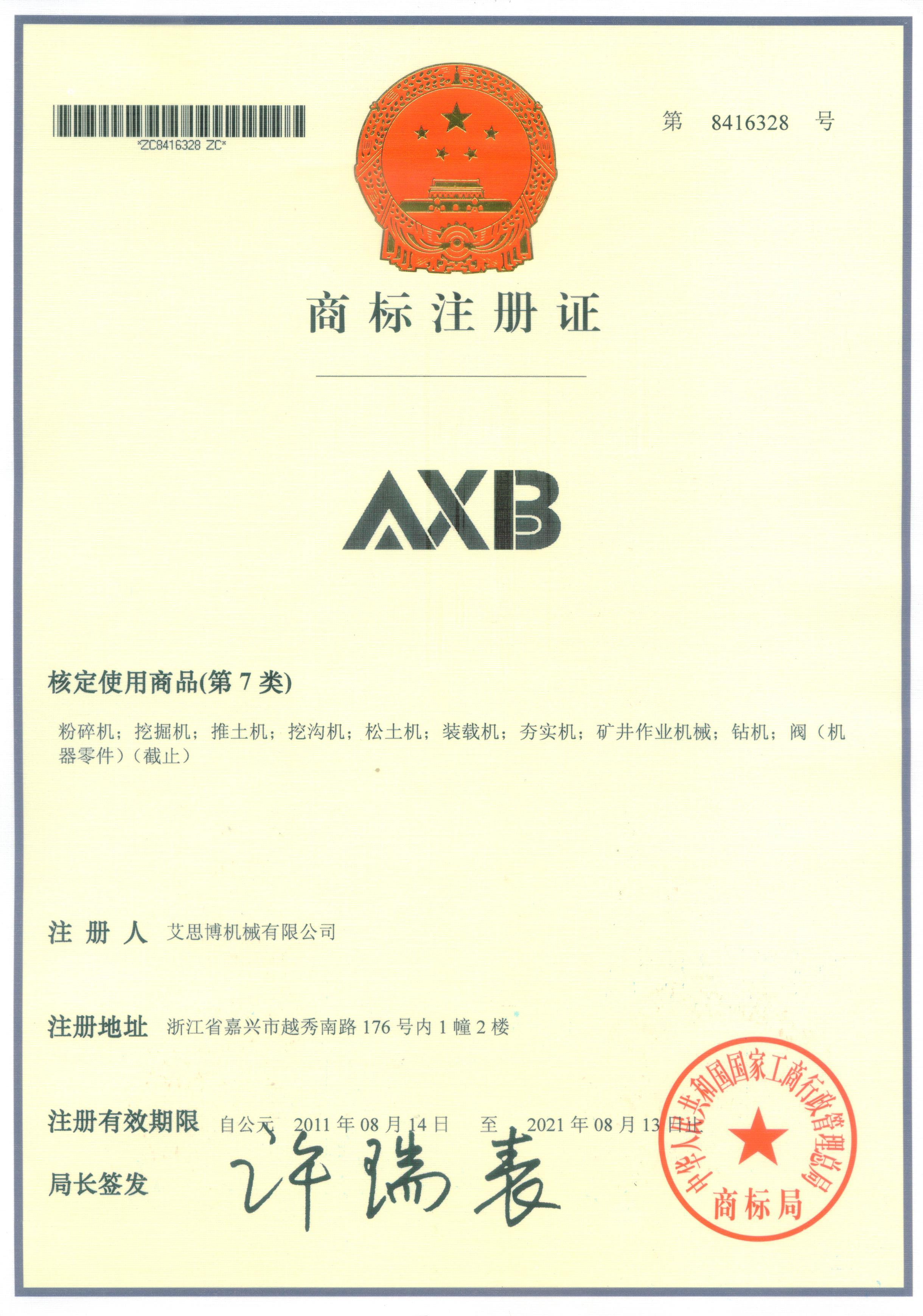 AXB注册商标